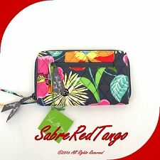 NWT VERA BRADLEY QUILTED ZIP AROUND WALLET FLORAL JAZZY BLOOMS