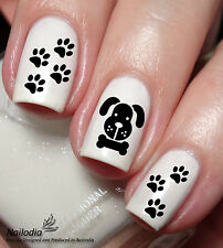 Puppy Paw Bone dog Nail Art Sticker Water Transfer Decal Tattoo 33