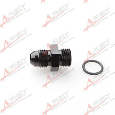 -8 AN -8AN8 Male Flare Straight Adapter Cut O-Ring Fitting Black