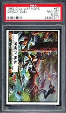 1962 TOPPS CIVIL WAR NEWS # 67 DEADLY DUEL   PSA 8 (OC)  NM-MT (7317)