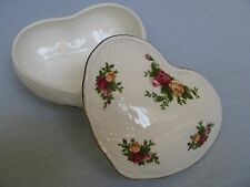 ROYAL DOULTON Albert Old Country Roses VICTORIAN HEART Trinket BOX Candy Dish