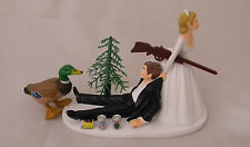 Wedding Reception Duck Fowl Bird Gun Rifle Hunter Hunting Cake Topper
