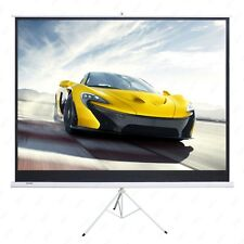 100'' Projector 16:9 Movie Tripod Projection Screen Portable Pull-Up Matte White