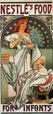 Metal Sign Alphonse Maria Mucha Nestles Food For Infants A4 12x8 Aluminium