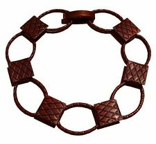 Chain Disk Bracelet Oval Antique Copper for Glass Fusing Cabs