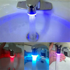 7 Color RGB Glow Automatic Temperature Sensor Shower LED Light Water Faucet Tap
