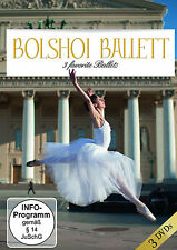 DVD Bolshoi - Ballet Three Favorites Ballets von Bolshoi Theatre Orchestra 3DVDs