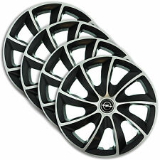 "Hub Caps 16"" OPEL Astra Insignia Vivaro 4x Wheel Trim Cover SILVER+BLACK  QUAD"