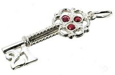 ARGENTO Sterling XXI Rosso Crystal Set key charm