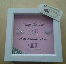 Only the best sister gets promoted to auntie, gift. See listing for all colours.