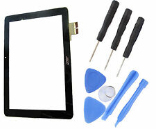 """Acer Iconia A510 10.1 """" Touch Screen Digitizer Front Panel Lens + Tools Black UK"""