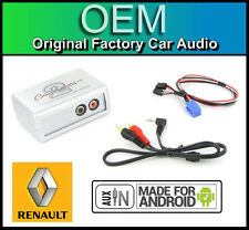 Renault Scenic AUX lead Car stereo Android Smartphone player connection adaptor