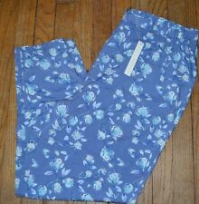 Lauren Conrad LC Pretty in Pleats Printed Floral Soft Pants Size XL Flat Front