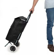 Folding Wheeled Lightweight Shopping Trolley Grocery Bag Cart On Weels Black New