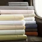 Sferra CELESTE Chestnut Brown King Sheet Set 400TC Egyptian Cotton Percale Italy