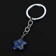 Purse Star Natural Stone Keyring Clear Quartz Standtone Party Gifts Key Chain