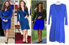 LADIES ASOS LUXURY ROYAL BLUE SHIFT DRESS SIZE 6 SMART WORK SKATER COSTUME PARTY