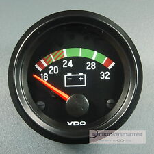 VDO VOLTMETER  INSTRUMENT GAUGE 24V  52mm Cockpit international classic schwarz