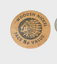Wooden Nickel Seward Alaska purchase 1967 Centennial Auburn, New York  (5038)