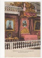 Versailles Chambre a Coucher Louis XIV Vintage Postcard France 054a