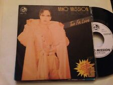 "MIKO MISSION TWO FOR  PROM0 SPANISH 7"" SINGLE SPAIN ITALO DISCO BLANCO Y NEGRO"