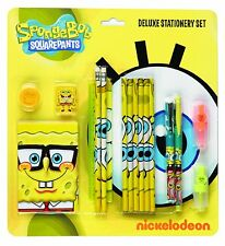 Spongebob Squarepants Deluxe Stationery Set School Kit Pencil Case Notebook
