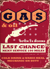 GAS & OIL GARAGE METAL SIGN RETRO VINTAGE STYLE SMALL shed man cave tin