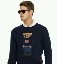 Polo Ralph Lauren NWT USA Flag Classic Polo Bear Knit Sweater Sz XL $265 MSRP