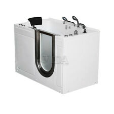 "52"" Deluxe Massage Walk-In Whirlpool Bath Tub Jazuzzi Senior Safty Right Drain"