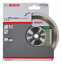 Bosch 2608602368 Best For Ceramic Diamond Extraclean Blade 115mm x 22 Fast Cut