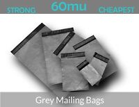 STRONG GREY PLASTIC SELF SEAL MAILING POST POLY POSTAGE BAGS - QUALITY BAGS