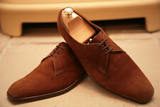 Very Rare Vintage Bespoke G J Cleverley Men's Tan Suede Shoes Size UK 8.5