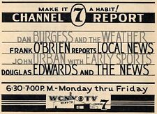 1961 WCNY TV AD~NEWS~DAN BURGESS~FRANK O'BRIEN~JOHN URBAN~DOUGLAS EDWARDS