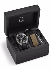 NEW BULOVA SPECIAL EDITION UHF MOON CHRONOGRAPH WATCH ON BLACK STRAP 96B251