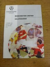 07/12/1994 Manchester United v Galatasaray [Champions League] . Good condition u