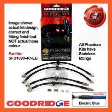 Ford Mondeo ST220 2003 Goodridge Stainless El Blue Brake Hoses SFD1090-4C-EB
