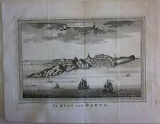 1755 DABUL COAST acquaforte Prevost Schley Hondt Dabhol दाभोळ Ratnagiri रत्नागिर