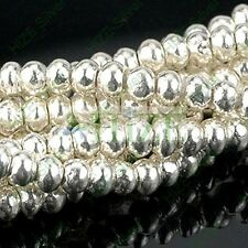 HIZE SB148 Thai Karen Hill Tribe Silver Rondelle Seed Spacer Beads 3mm (100)