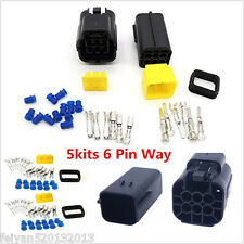 5 Kit 6 Pin Way Car Auto Waterproof Electrical Connector Plug Wire Terminal Seal