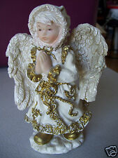 "Don Mechanic Enterprises Girl Lady 5.5"" Clasp Hands Angel Gold Accent Figurine"