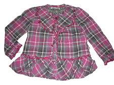 Eager Beaver zauberhafte Bluse Gr. 92 rosa-grau kariert !!