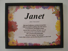 WILDFLOWERS - Meaning of YOUR First Name *Personalized* - Buy more & Save $$$$