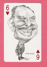 Ayub Khan Pakistan 1973 Political Playing Card from Spain