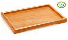 Red Bamboo Gongfu Tea Serving Tray Tabletop 295*190mm