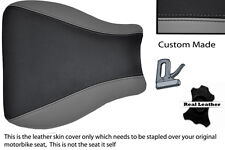 BLACK & GREY 95-97 CUSTOM FITS KAWASAKI NINJA ZX6R 600 FRONT LEATHER SEAT COVER