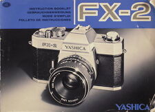 Yashica fx-2 instruction livret mode d'emploi mode d emploi - (25109)