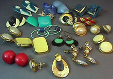 Vintage Lot of 18+ Pairs VINTAGE LADIES PIERCED EARRINGS EAR RINGS OLD JEWELRY