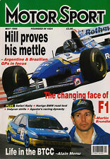 Motor Sport May 1995 - Brazilian and Argentine Grand Prix, Safari Rally, Volvo 8