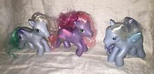 My Little Pony G3 Pegasus Lot Of 3 Royal Rose Silver Glow Aurora Mist