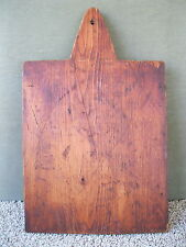 "Vintage Bread Board Primitive Country 14-1/2"" x 9"" x 5/8"" Wood, Cutting Dough"